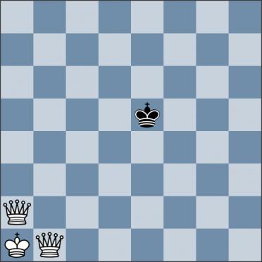 Урок №145. Король против двух ферзей (мат в центре доски)