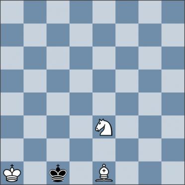 Урок №147. Король против слона и коня (мат слоном и конём)